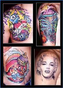 Full body tattoos in colour