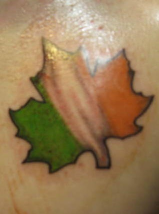 Irish canadian flag tattoo