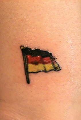 German flag tattoo