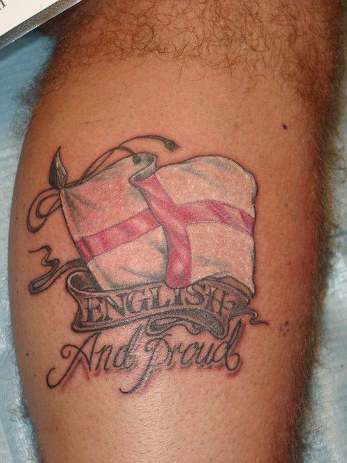 Flag of england tattoo