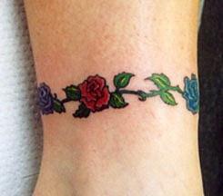 fiori colorati bracciale tatuaggio