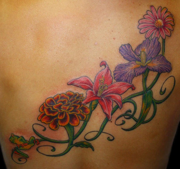 Flower Tattoo With Vines: Awesome Vine Images