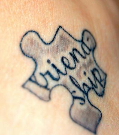 Maze symbol tattoo for friends