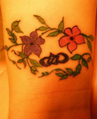 Friendship forever coloured tattoo