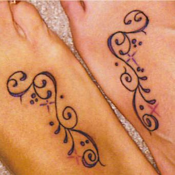 Identical girl tarcery frienship tattoos
