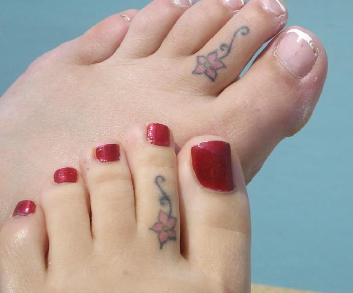 Girl friendship flowers tattoos