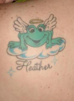 Frog in heaven tattoo