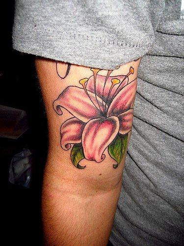 Orchidee Rose Le Tatouage Sur Tout Le Bras Tattooimages Biz