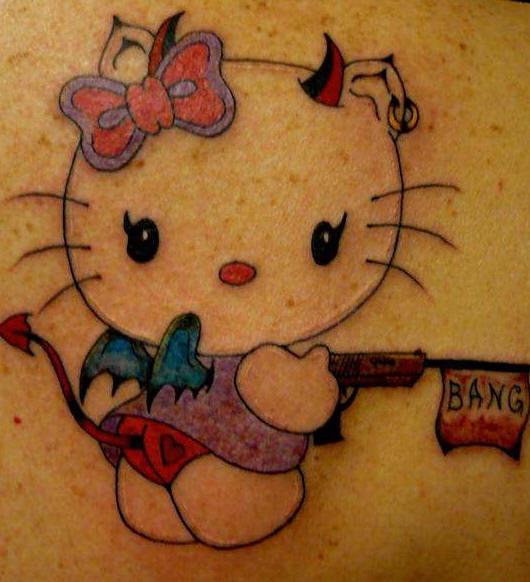 Hello kitty devil tattoo