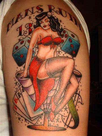 Lagy vamp 13 colourful classic tattoo