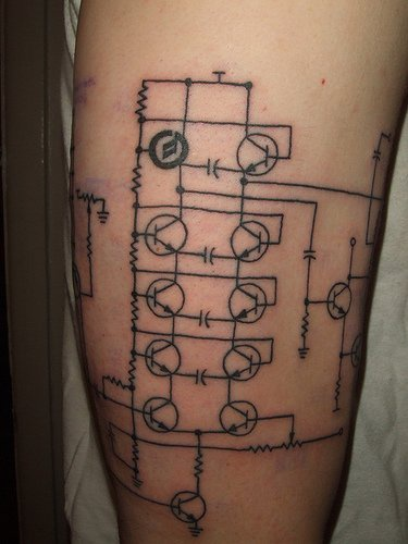Hard electric robotic scheme tattoo