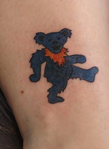 Grateful dead band bear tattoo