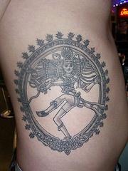 Dancing hindu woman mystic tattoo