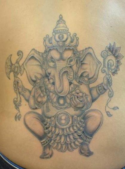 Dancing ganesha warrior tattoo