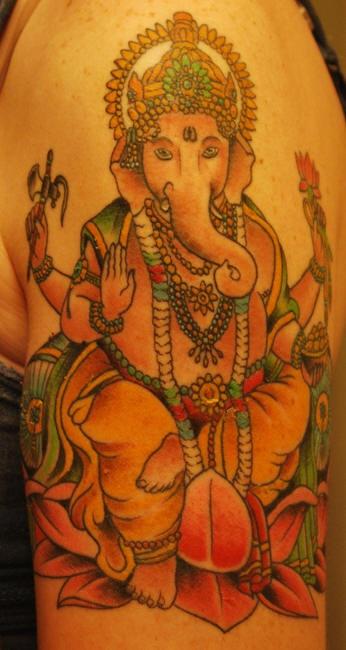 Hindu deity ganesha tattoo