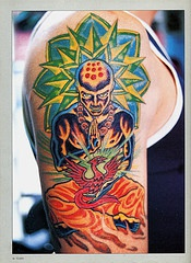 Hindu monk in nirvana tattoo
