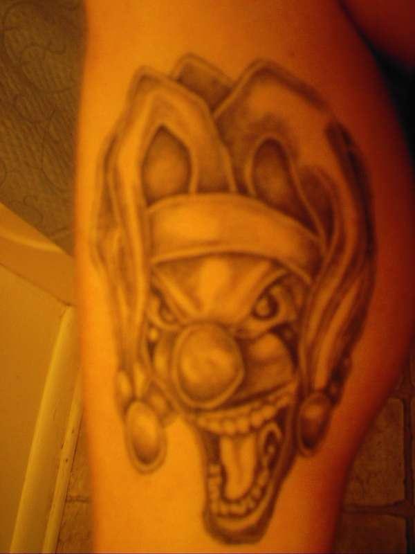 Angry buffoon simple tattoo