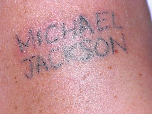 Homemade michael jackson tattoo