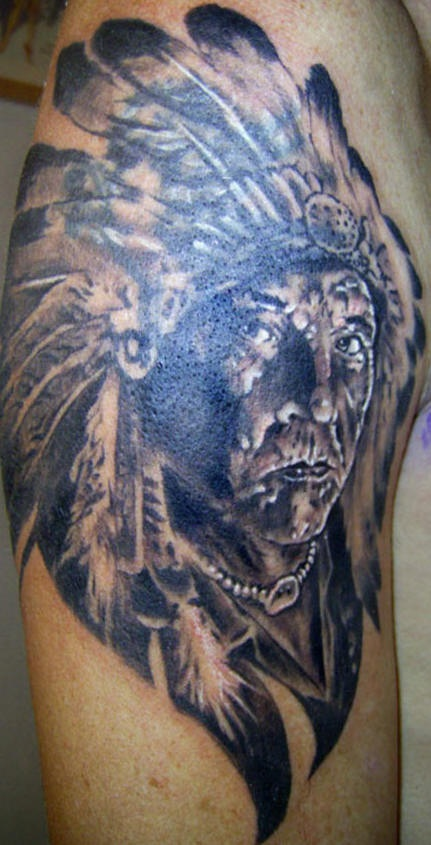 Cool native american design - Part 3 - Tattooimages.biz