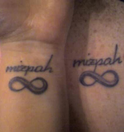 Similar Infinity symbols tattoo