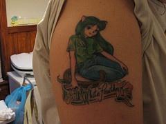 Irish style shoulder tattoo