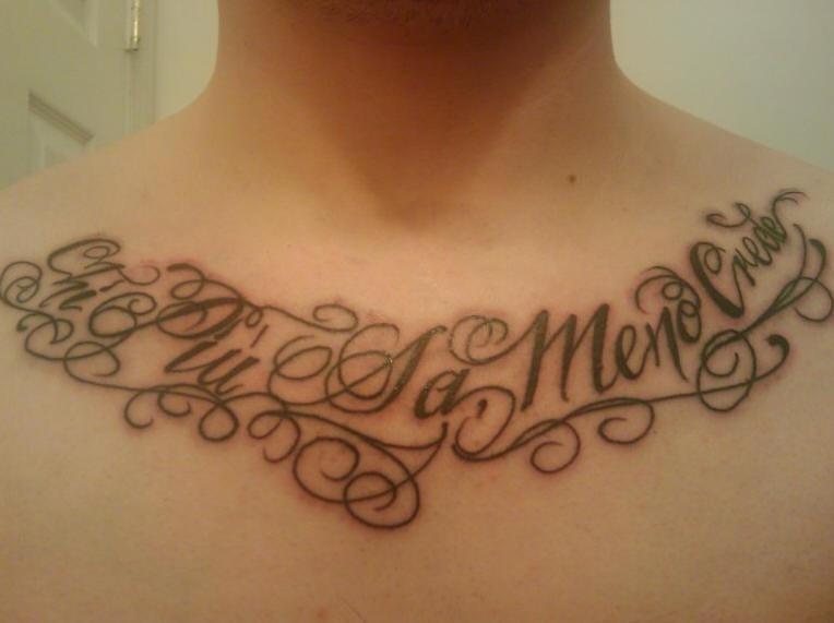 Tatuaje Con La Frase En Italiano Para El Pecho Tattooimagesbiz