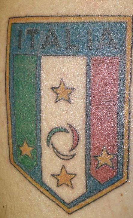 italia squadra di calcio cresta tatuaggio