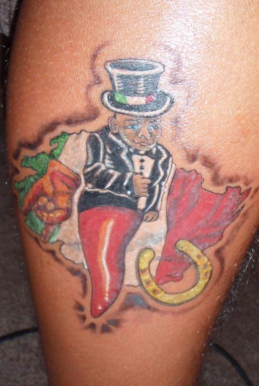 simbolo di fortuna italiano tatuaggio