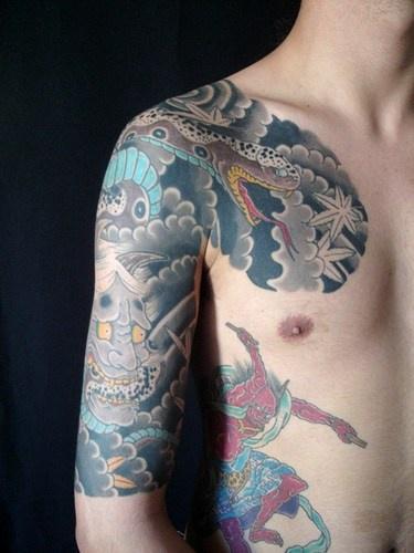 Demons and dragons yakuza style tattoo