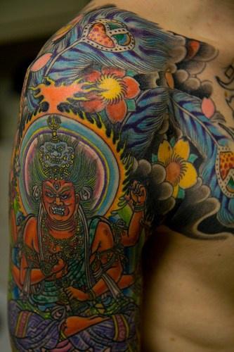 Japanese style hindu tattoo