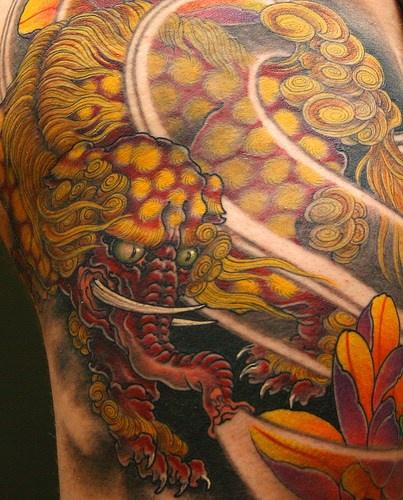 bestia elefante d&quotoro giaponese elefante tatuaggio