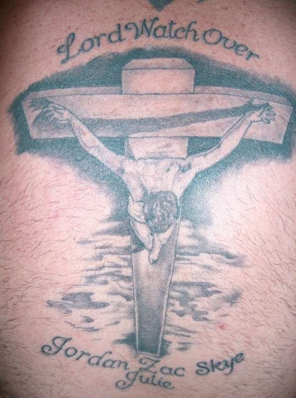 Lord watch over Jesus tattoo