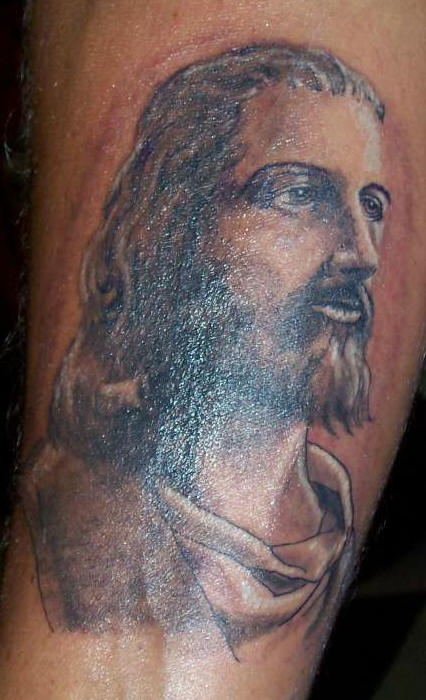 Young jesus image  tattoo