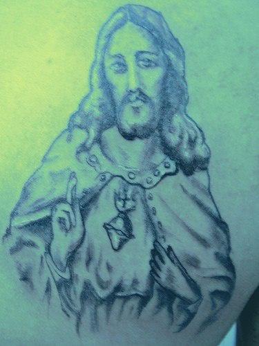 """vecchia immagine gesu"""" catolico tatuaggio"""