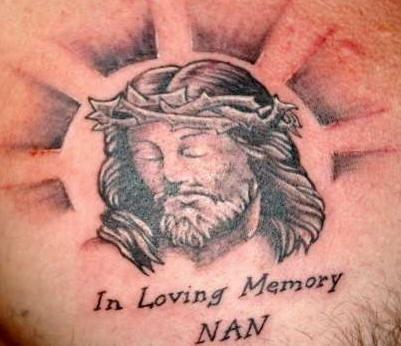 gesu faccia memoriale tatuaggio