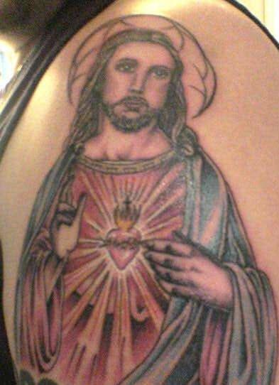 """immagine gesu"""" catolico tatuaggio"""