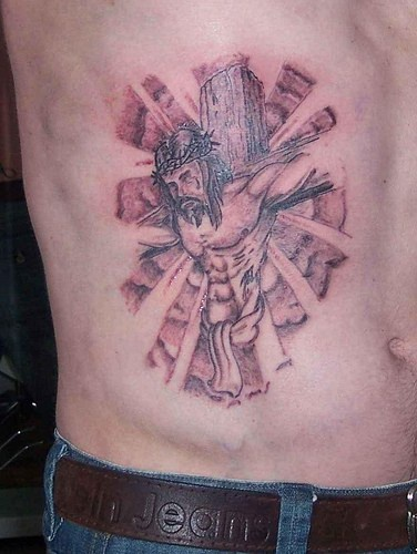Jesus christ on cross tattoo