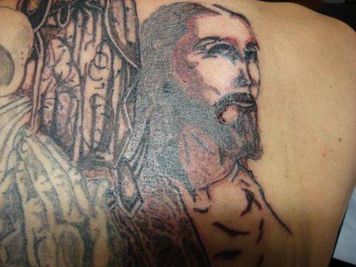 """inchiostro nero gesu"""" tatuaggio"""