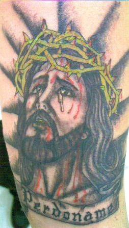 Jesus the lord shining tattoo