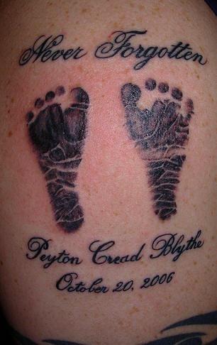 Never forgotten footsteps tattoo