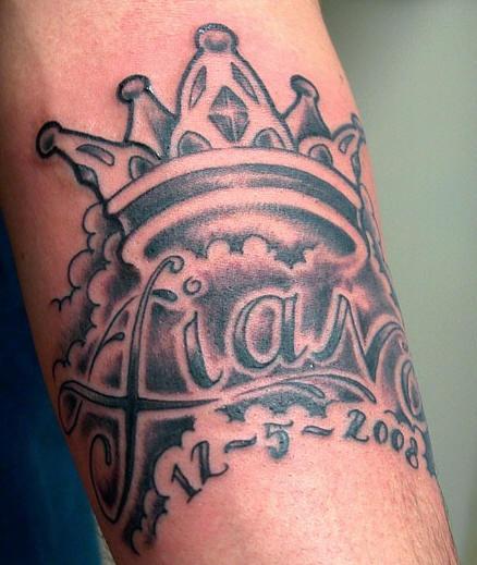 Crown In Sky With Name Tattoo Tattooimagesbiz