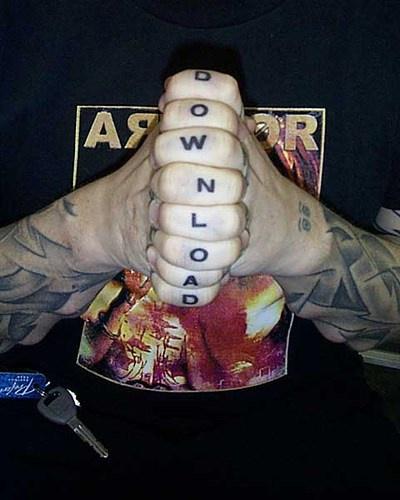 Knuckle tattoo, download,similar  black letters