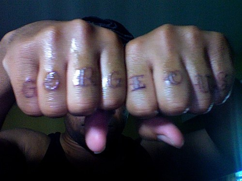 Knuckle tattoo design, gorgeous, red