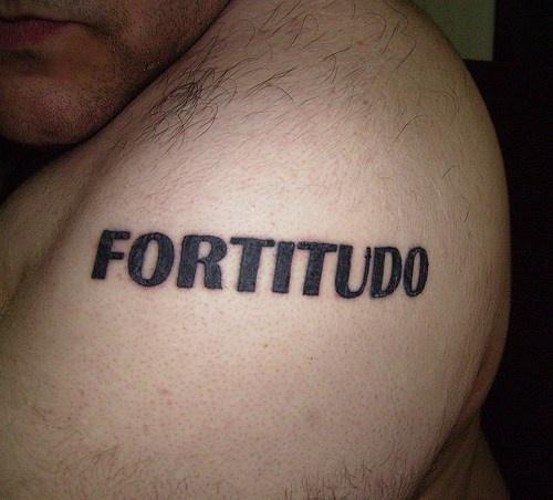 Fortitudo latin word tattoo