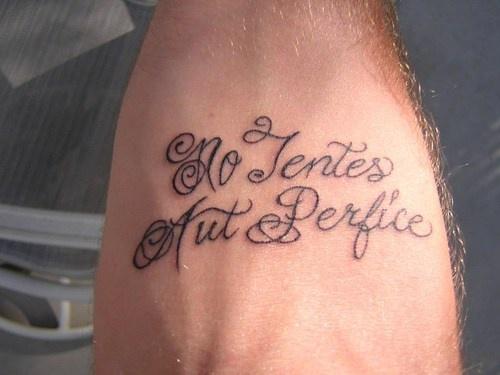 Ne tentes aut perfice tattoo