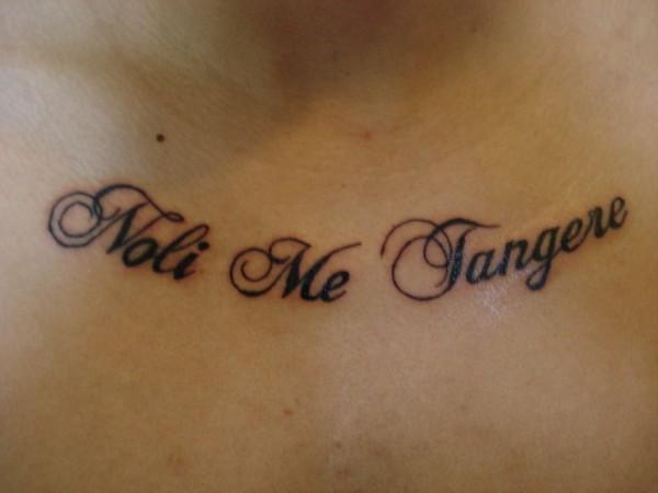 Noli me tangere tattoo