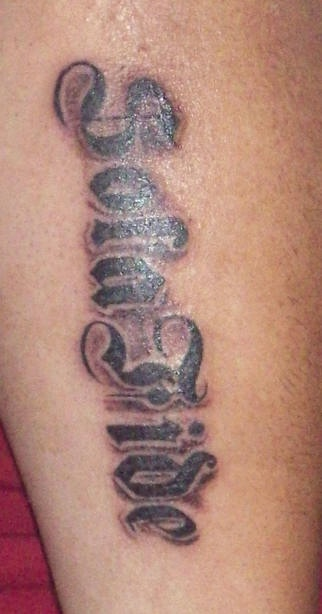 Sola fide writing tattoo