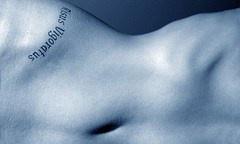 Isus vigoratus tattoo on hills