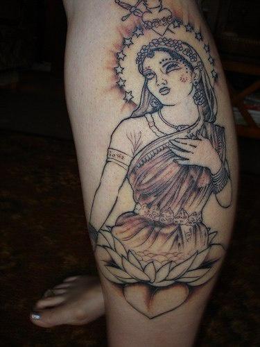 Leg tattoo, beautiful, smart woman in stars