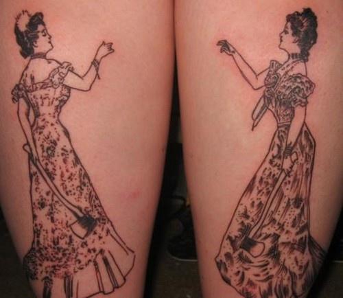 Leg tattoo,black beautiful smart woman
